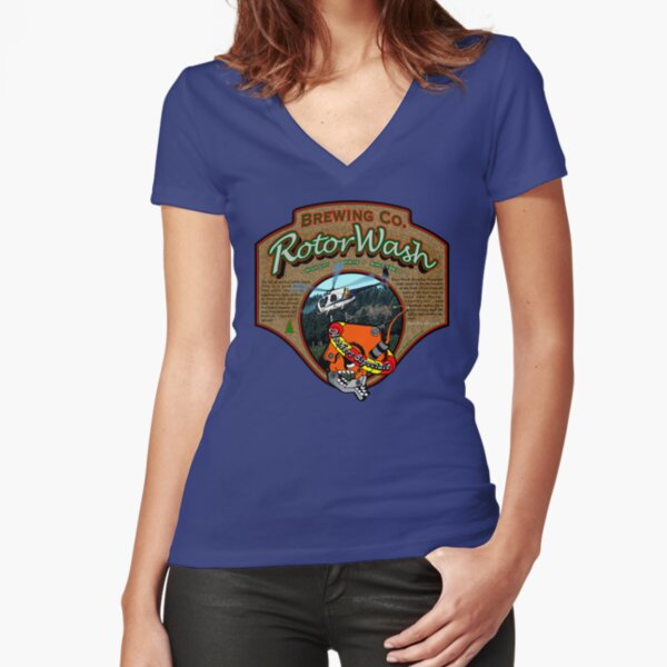 RotorWash Brewing Co. Hookers Especiale Fitted V-Neck T-Shirt