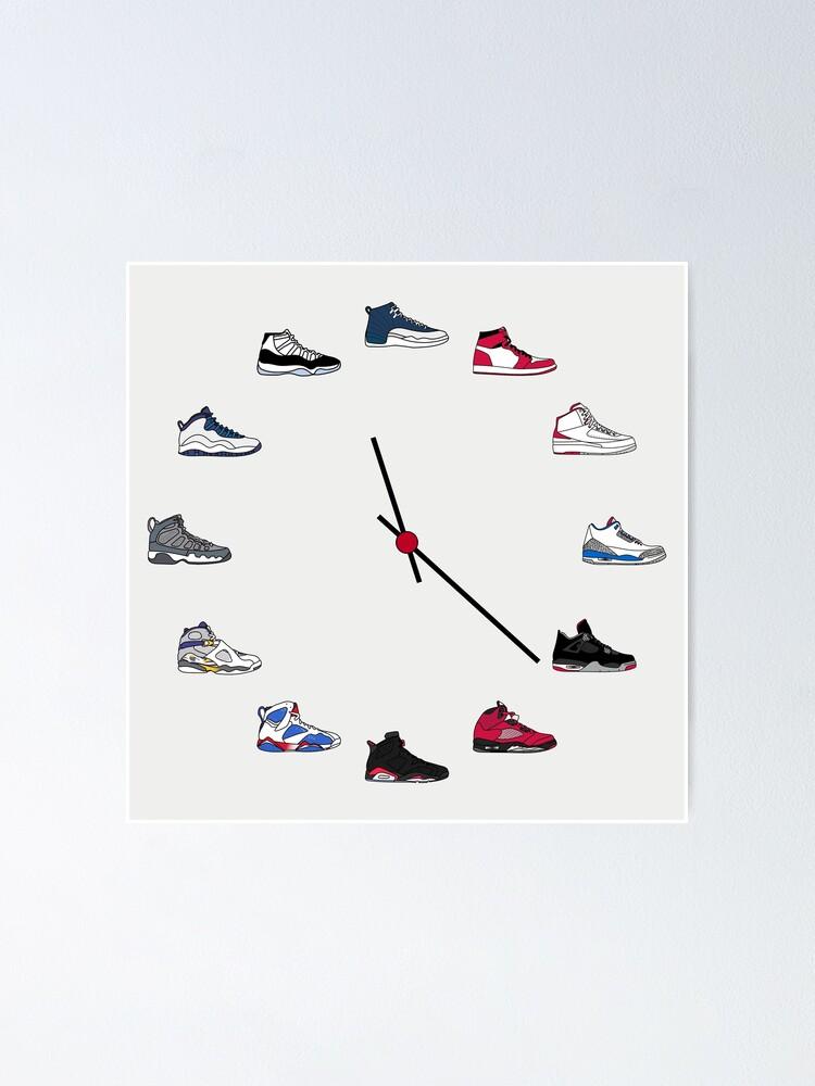 Jordan Sneaker Clock   Poster