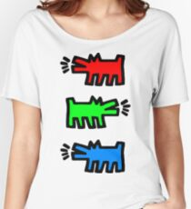 "HARING - RGB "" Red Green Blue"" Women's Relaxed Fit T-Shirt"