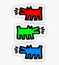 "HARING - RGB "" Red Green Blue"" Sticker"