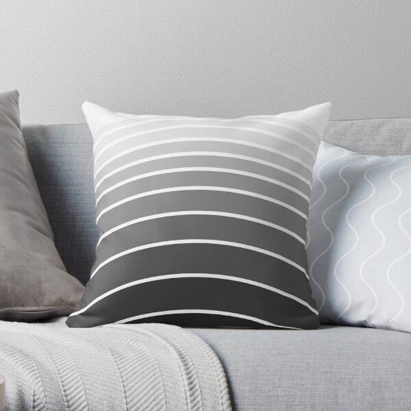Arches - white, grey, black (01) Throw Pillow