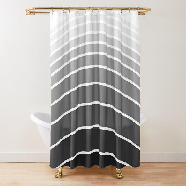 Arches - white, grey, black (01) Shower Curtain
