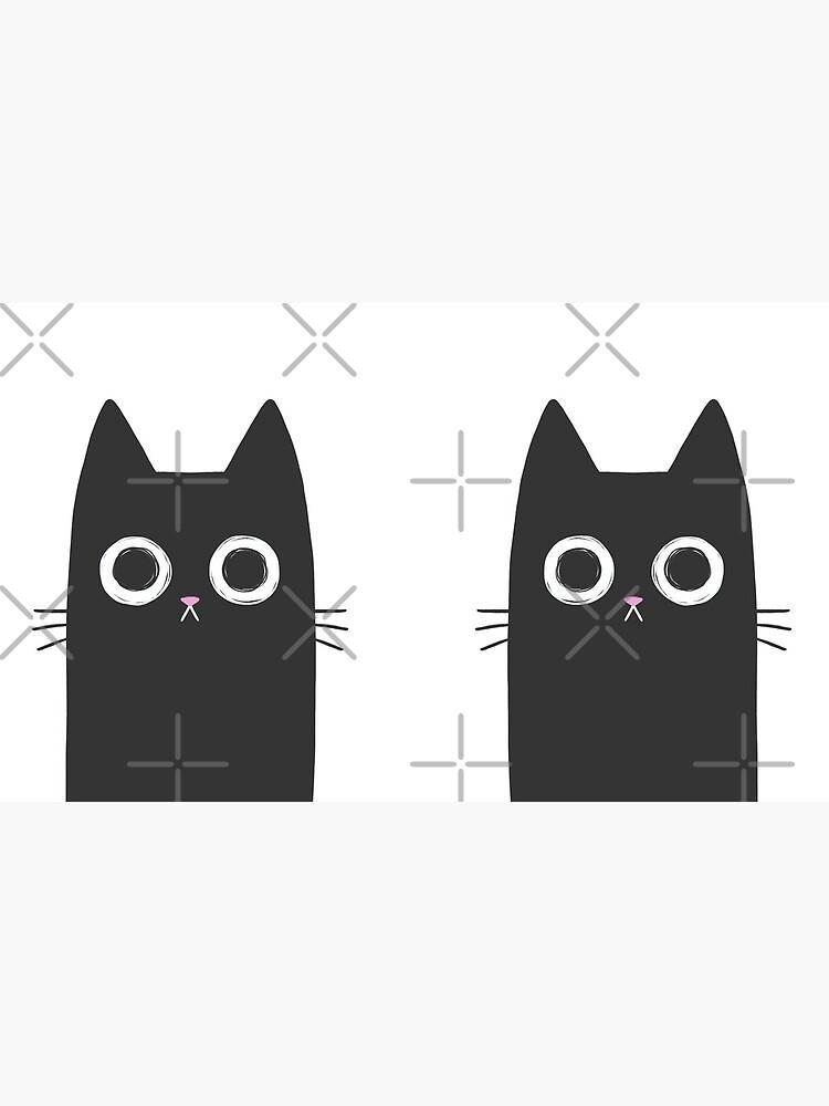 Staring Black Cat by kattvalk