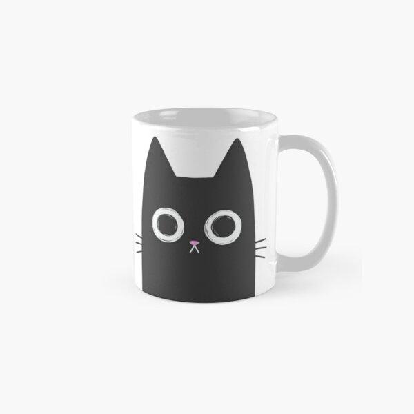 Chat noir regardant fixement Mug classique