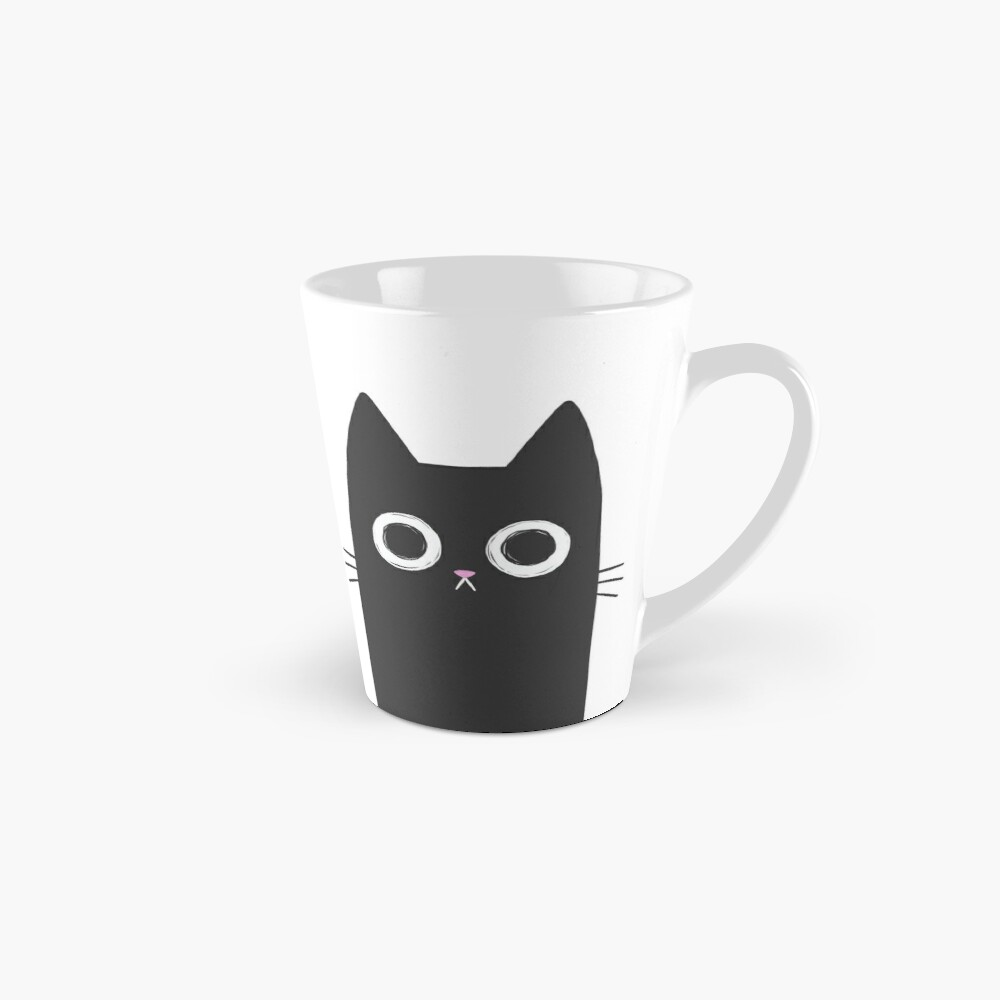 Staring Black Cat Mug
