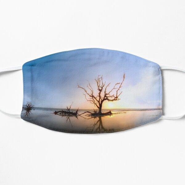 Driftwood Reflection Along the Waters Edge on Jekyll Island Beach Flat Mask