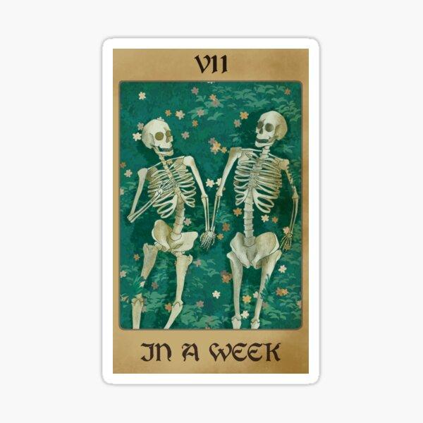 Hozier In a week inspired tarot card Sticker