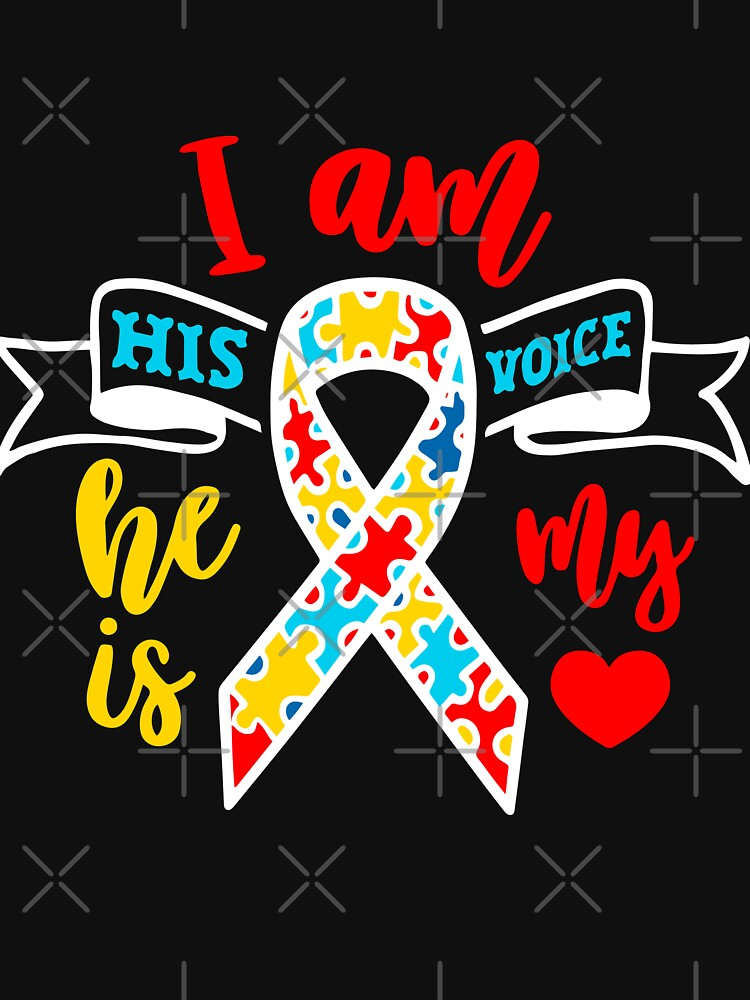 Autism I Am His Voice He Is My Love by NextLVLShirts
