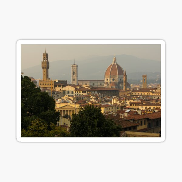 Hot Summer Afternoon in Florence Italy Sticker