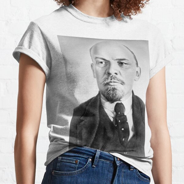 Political Poster, Vladimir Lenin. Vladimir Ilyich Ulyanov, better known by his alias Lenin, was a Russian revolutionary, politician, and political theorist. Classic T-Shirt