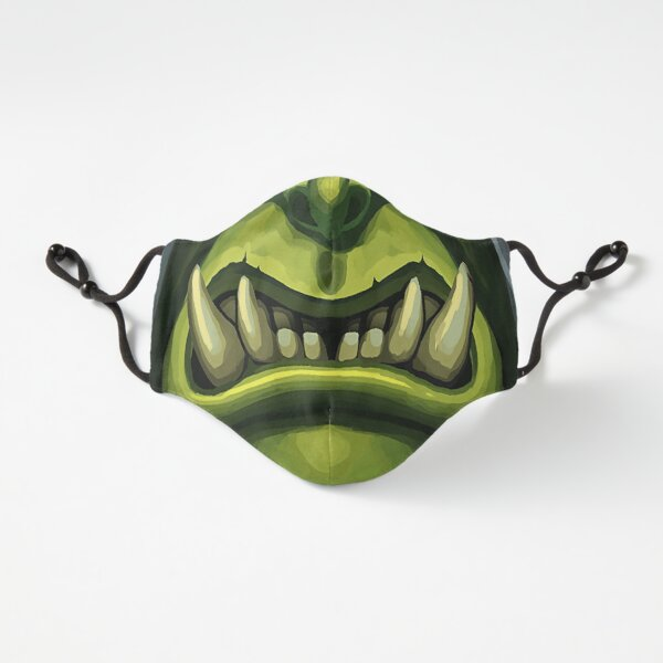 Fantasy orc face Fitted 3-Layer