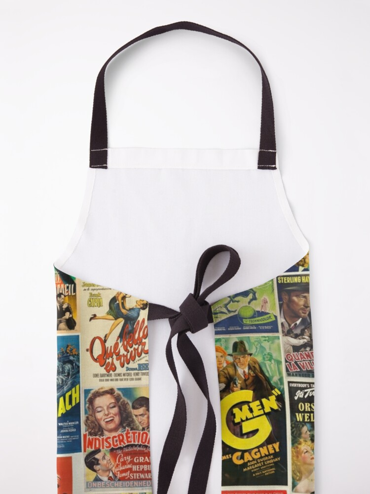 Alternate view of Classic Movie Poster Collage Apron