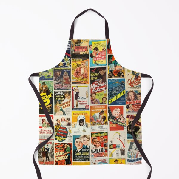 Classic Movie Poster Collage Apron