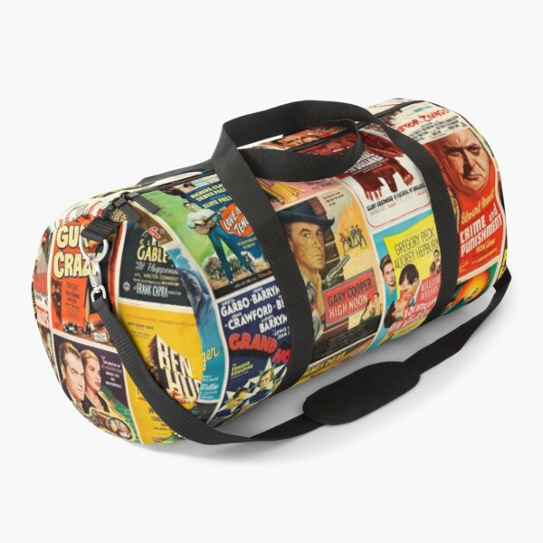 Classic Movie Poster Collage Duffle Bag