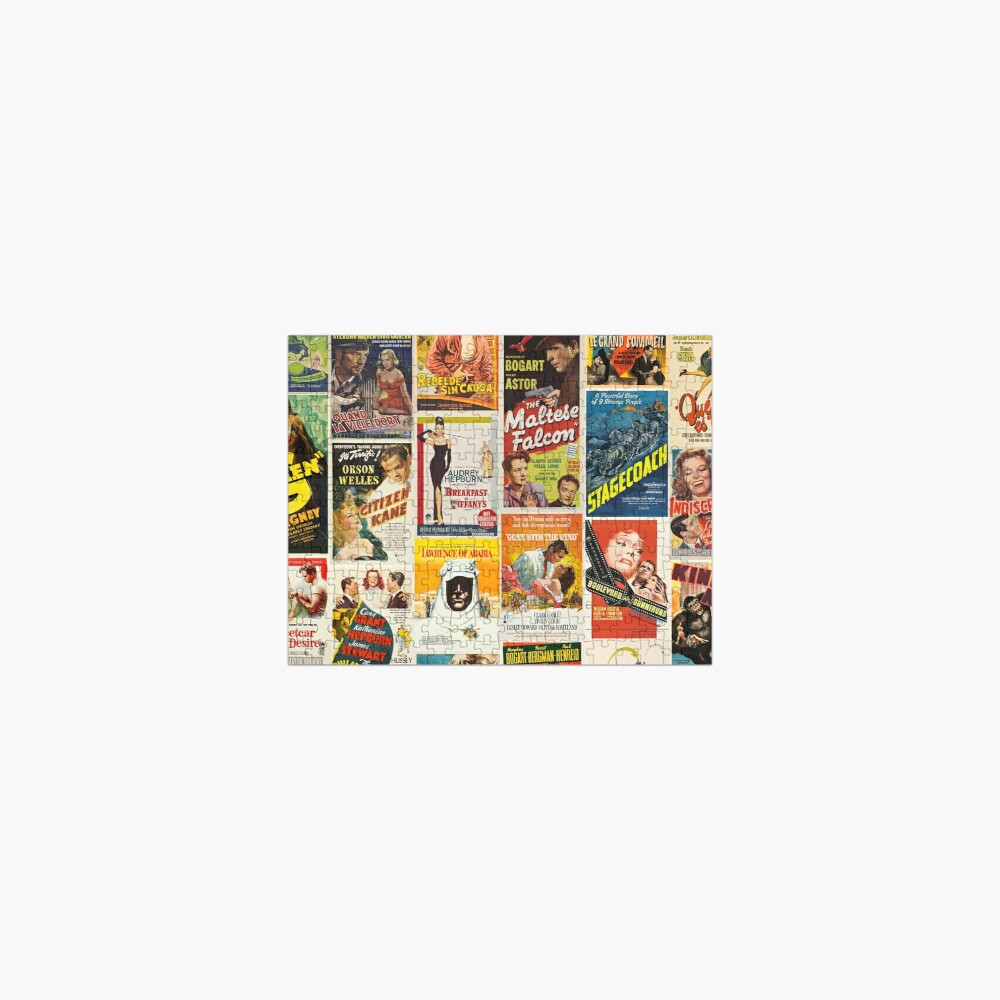 Classic Movie Poster Collage Jigsaw Puzzle