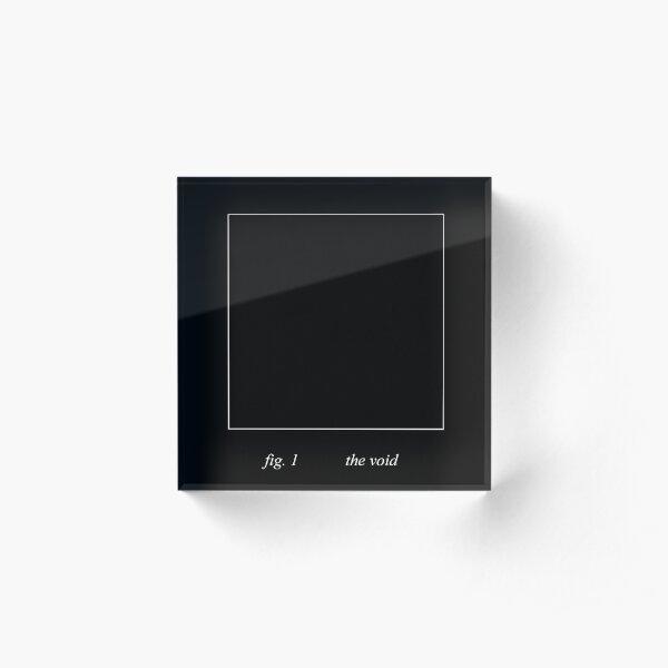 The Void (white on black) Acrylic Block