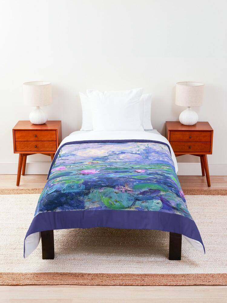 Alternate view of Claude Monet Water Lilies Comforter