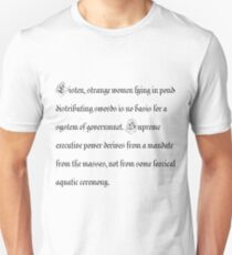 Basis for a system of government Unisex T-Shirt