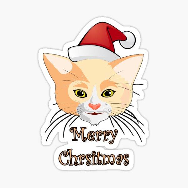Merry christmas - Cute Kitten Sticker