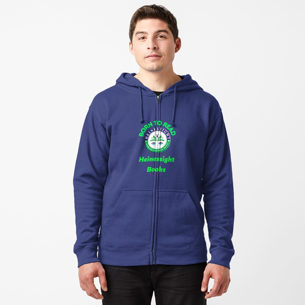 Heinessight Bookstore Logos for Book Lovers and Lovers Alike Zipped Hoodie