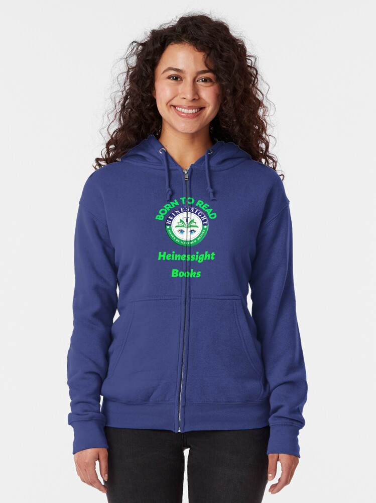 Alternate view of Heinessight Bookstore Logos for Book Lovers and Lovers Alike Zipped Hoodie