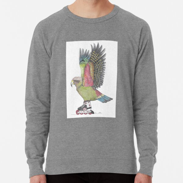Kea Parrot on Inline skates Lightweight Sweatshirt