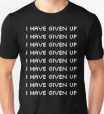 "Broken Pixel - Mulitple ""I Have Given Up"" White T-Shirt"