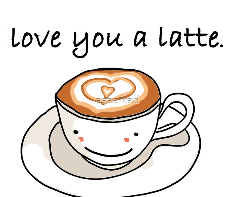 "love you a latte"" visual pun design"" Travel Mugs by assorted ..."