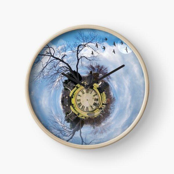 Cemetery Swirl World  Clock