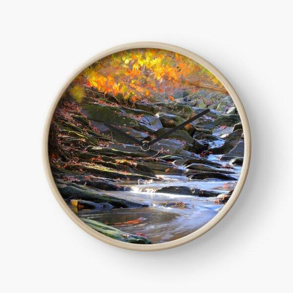 Autumn Stream Clock