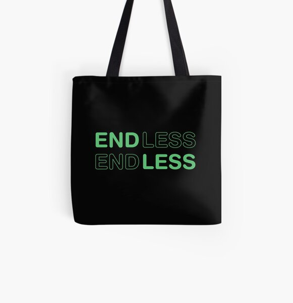 ENDLESS love movie. Green. All Over Print Tote Bag