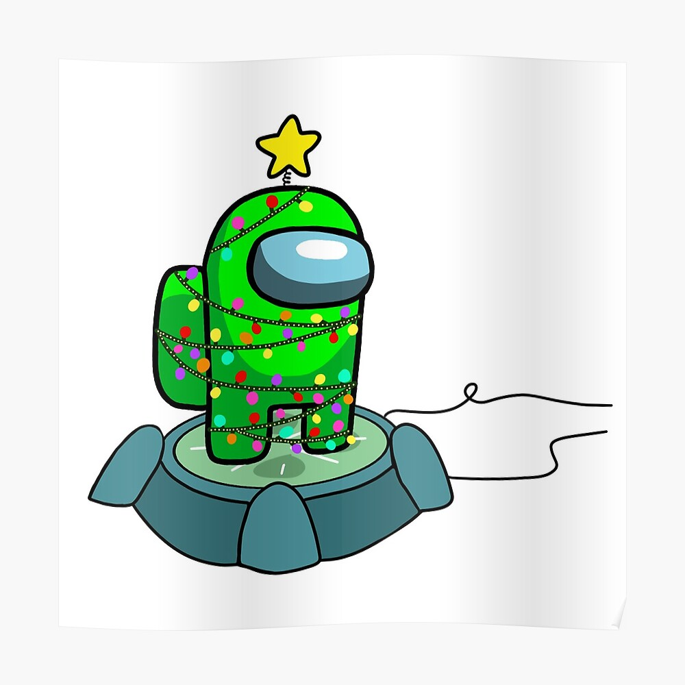 Among Us Christmas Tree Sticker By Stickersbylexy Redbubble During christmas, players can acquire a set of unique hats. redbubble