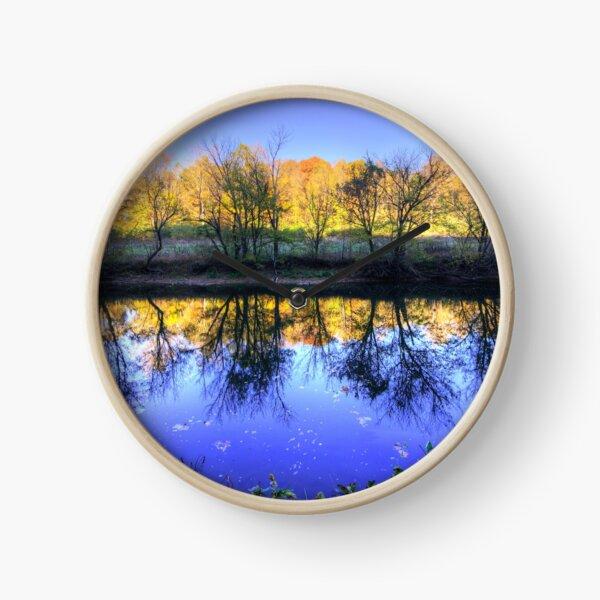 River at Sunset Clock