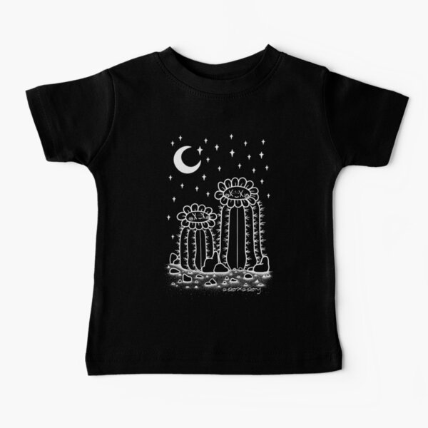 Ghostcactus Flowers Together at Night Baby T-Shirt