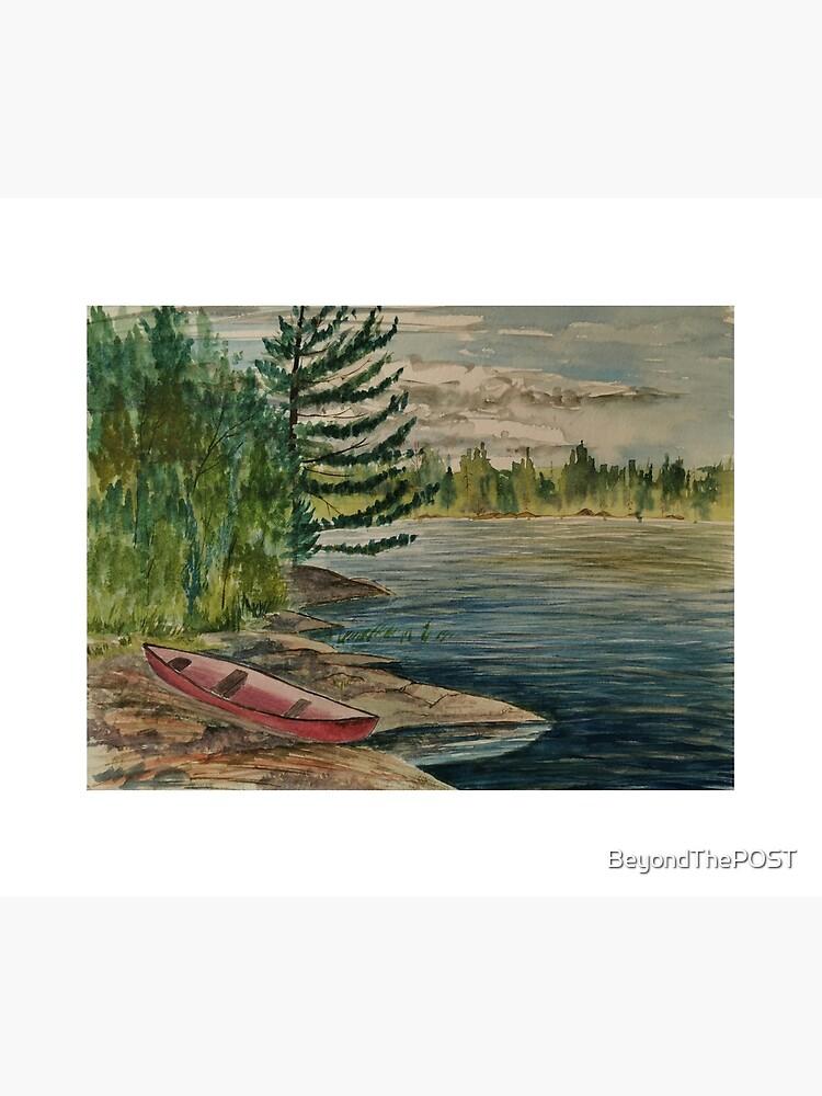Old canoe on Rathbun Lake by BeyondThePOST