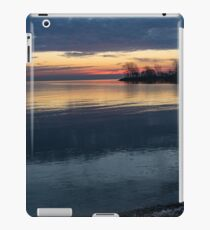 Stripes and Layers - Sunrise on the Lake Shore iPad Case/Skin