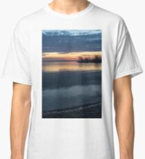 Stripes and Layers - Sunrise on the Lake Shore Classic T-Shirt