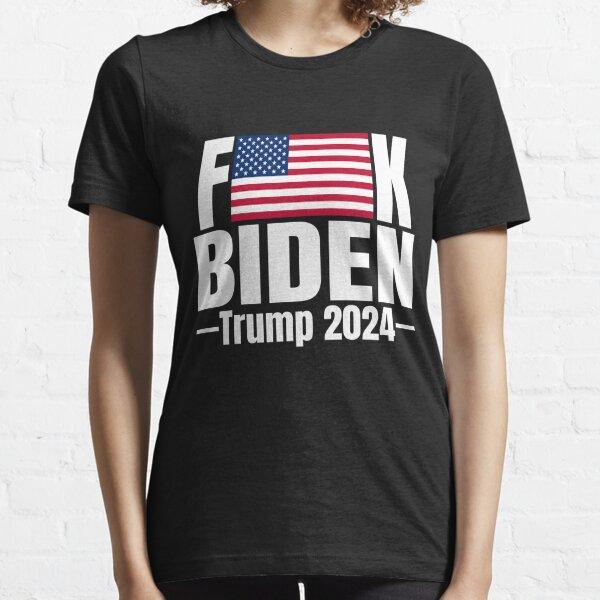Fuck Biden American Flag Trump 2024 Shirt Essential T-Shirt