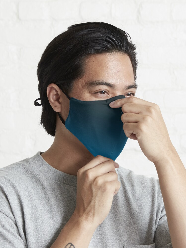 Alternate view of Ombre Cerulean Blue Mask