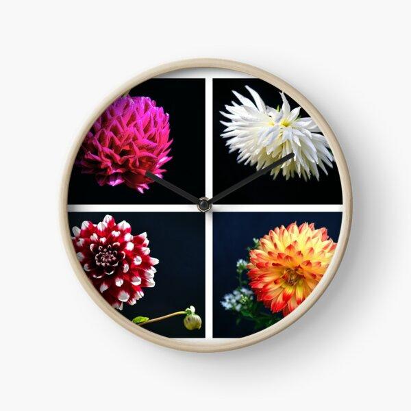 Local flower collage Clock