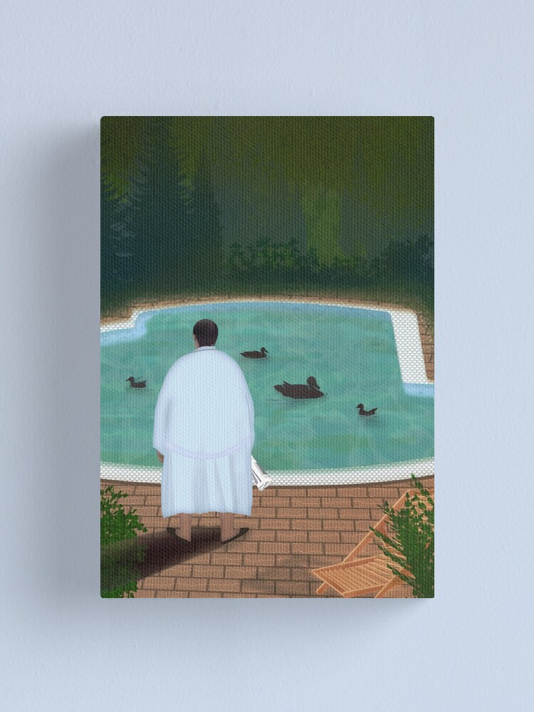 Alternate view of Him, with those ducks... Canvas Print