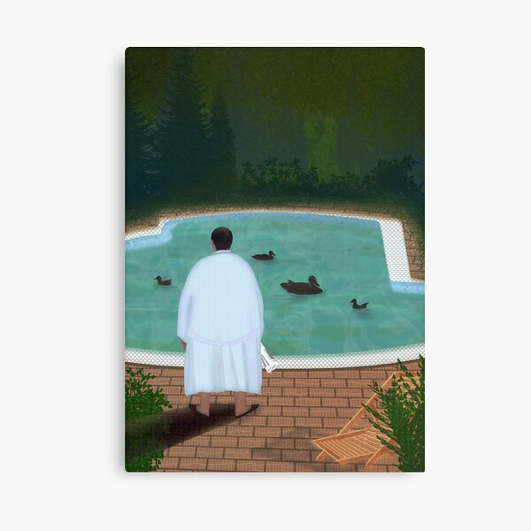 Him, with those ducks... Canvas Print