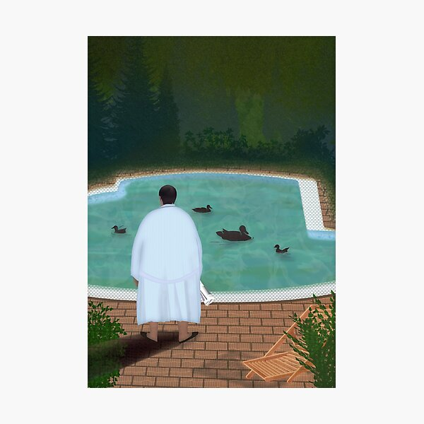 Him, with those ducks... Photographic Print