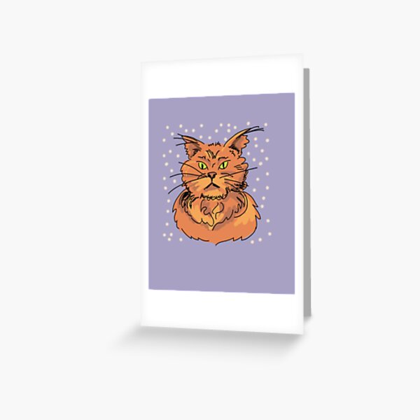 Angry Kitty surrounded by hearts Greeting Card