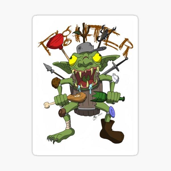 Goblin Fighter Sticker