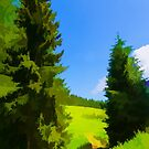 Impressions of Green Forests and Meadows by Georgia Mizuleva