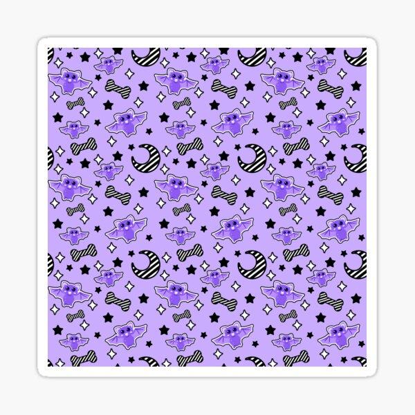 Magical kawaii spooky bats  light purple Sticker