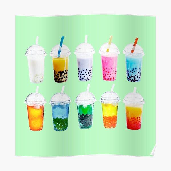 Weihnachtsblasentee | Ästhetisches und trendiges Bubble Tea Cooles Design Poster