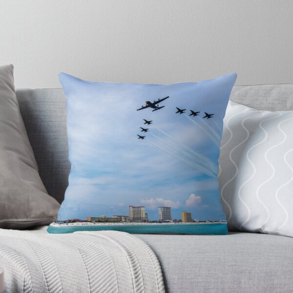 Fat Albert with Company Throw Pillow