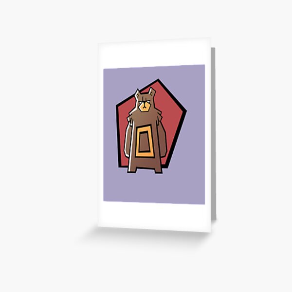 Grumpy cat like Grumpy Bear  Greeting Card